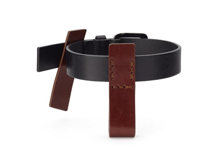 LEATHER WRAP BUCKLE CUFF A fullsize