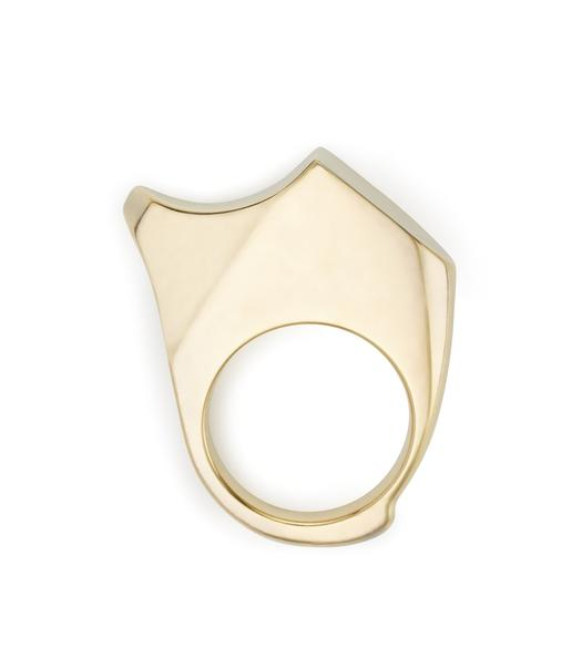 CURVED JAGGED RING