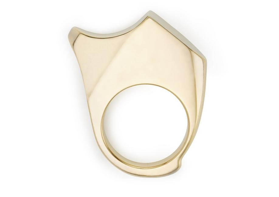 CURVED JAGGED RING A fullsize