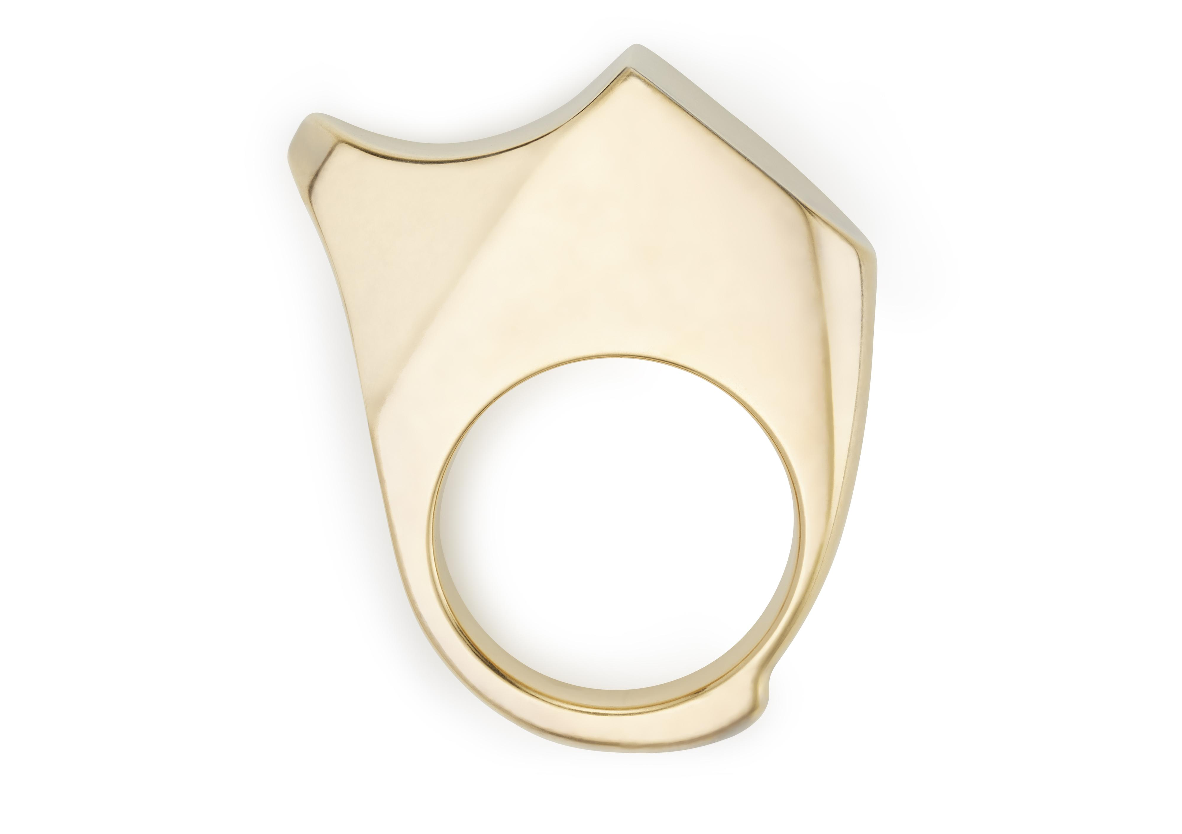 CURVED JAGGED RING A thumbnail