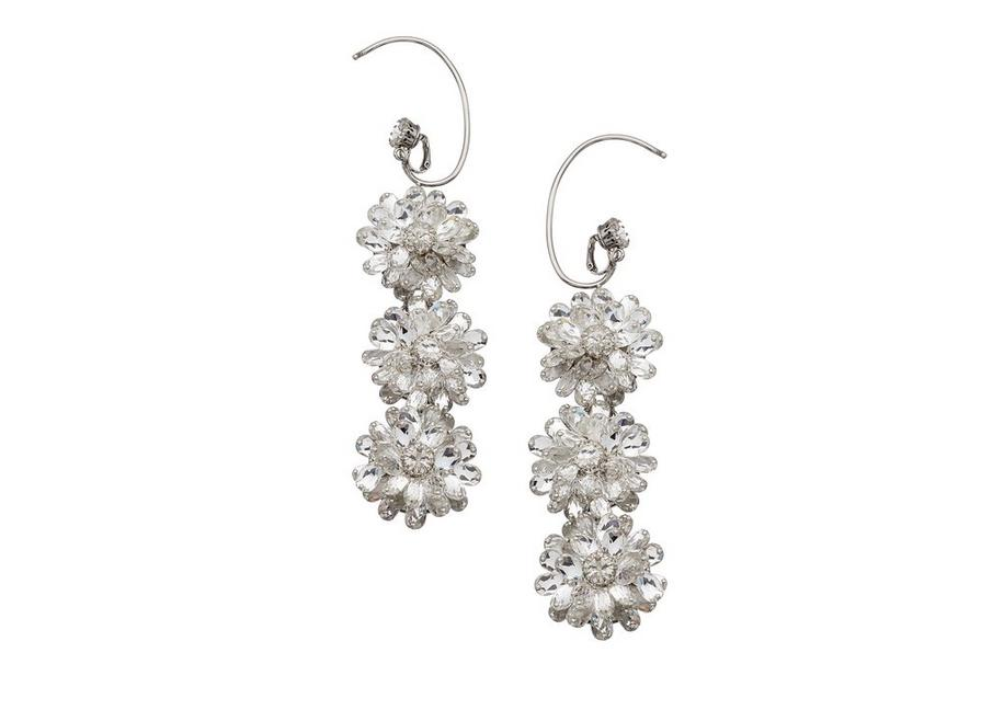 CRYSTAL FLOWER EARRINGS A fullsize