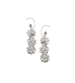 3005260909 CRYSTAL FLOWER EARRINGS