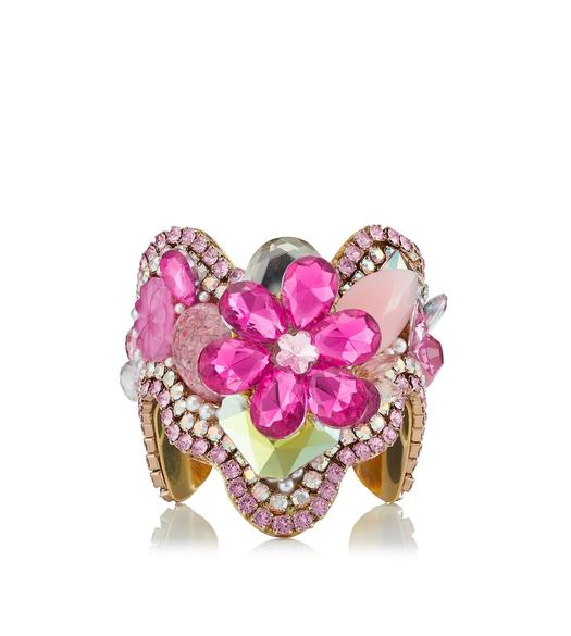 CRYSTAL FLOWER CUFFS