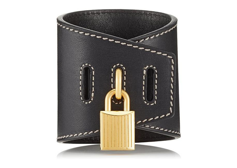 PADLOCK LEATHER BRACELET A fullsize