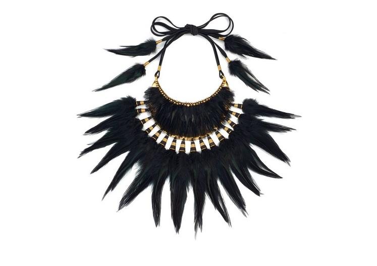 TRIBAL FEATHER NECKLACE A fullsize