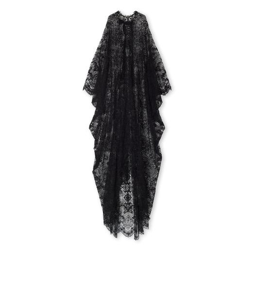 LIGHT FLORAL MACRAME' LONG KAFTAN