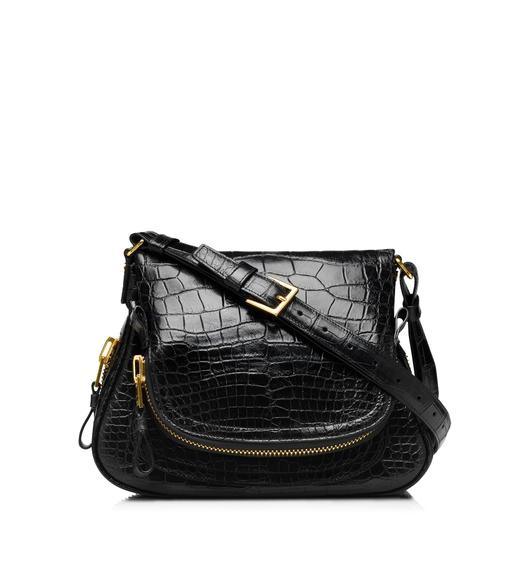 Jennifer Medium Alligator Adjustable Strap Bag
