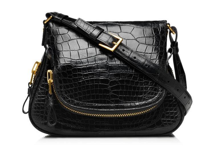 Jennifer Medium Alligator Adjustable Strap Bag A fullsize