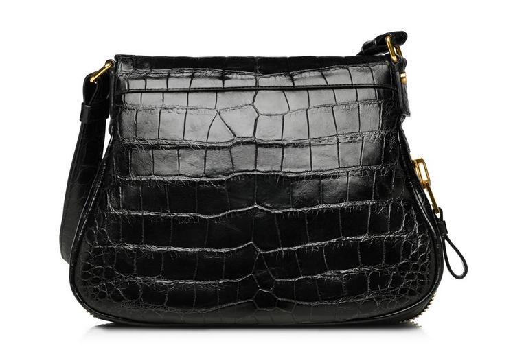 Jennifer Medium Alligator Adjustable Strap Bag C fullsize