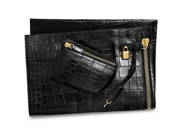 ALIX MEDIUM ALLIGATOR BAG E fullsize