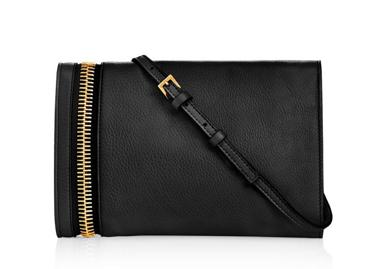 ALIX GRAINED LEATHER FLAP CLUTCH C fullsize