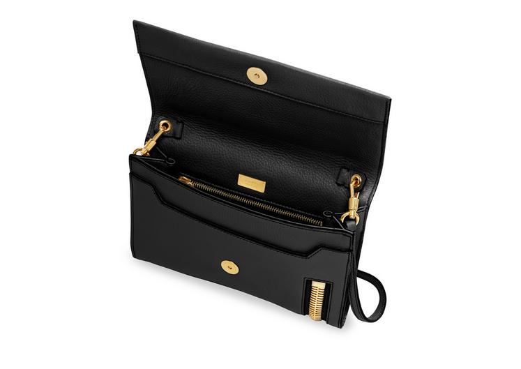 ALIX GRAINED LEATHER FLAP CLUTCH D fullsize