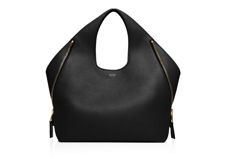 JENNIFER MEDIUM GRAINED LEATHER SHOULDER BAG A fullsize