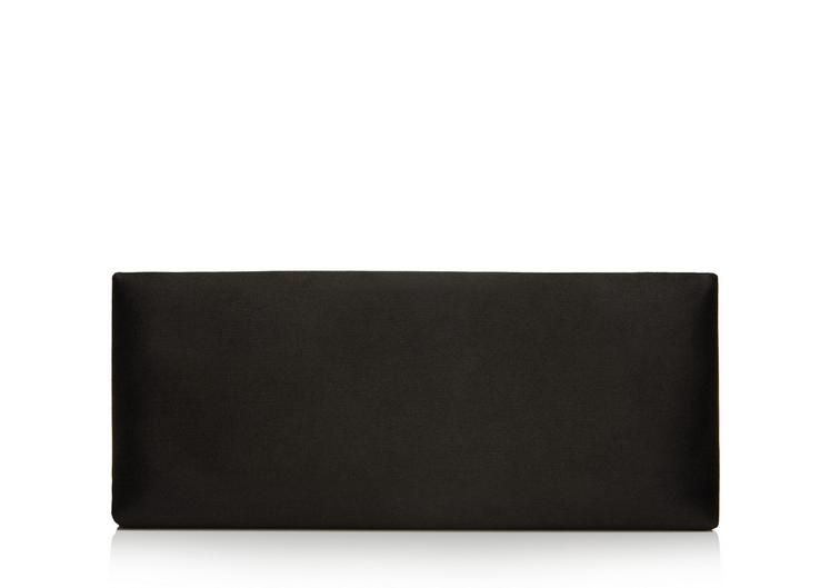 EAST-WEST SILK SATIN SNAKE HEADS CLUTCH D fullsize