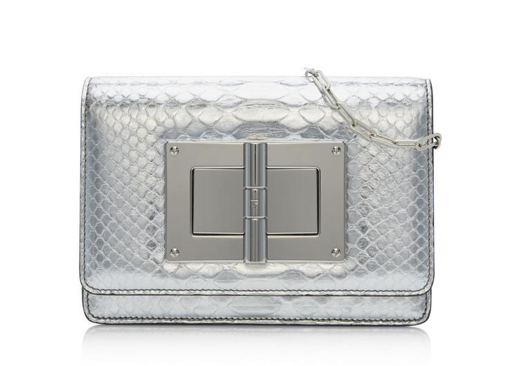 Natalia Mirror Python Mini Bag With Chain Shoulder Strap A fullsize