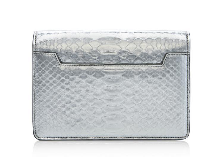 Natalia Mirror Python Mini Bag With Chain Shoulder Strap C fullsize