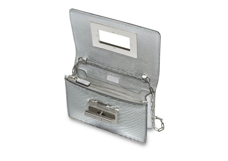 Natalia Mirror Python Mini Bag With Chain Shoulder Strap D fullsize