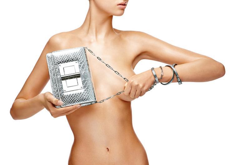 Natalia Mirror Python Mini Bag With Chain Shoulder Strap F fullsize