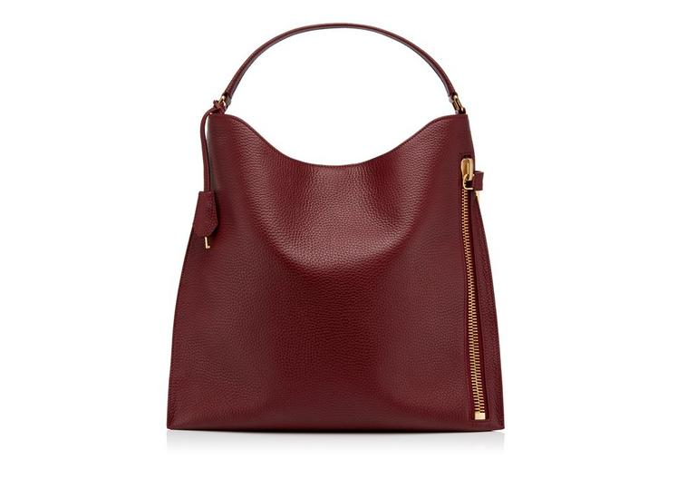 LARGE GRAIN LEATHER ALIX HOBO A fullsize