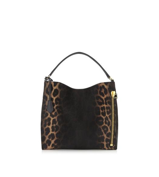 LEOPARD PONY HAIR SMALL ALIX HOBO