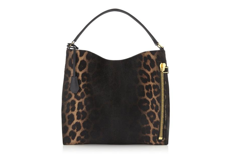 LEOPARD PONY HAIR SMALL ALIX HOBO A fullsize