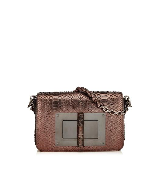 MEDIUM METALLIC PYTHON CHAIN NATALIA WITH STONE LOCK