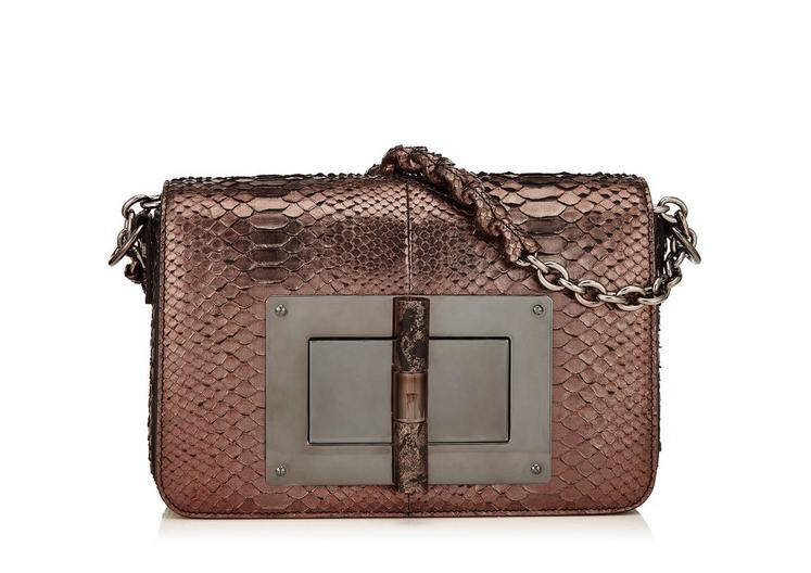 MEDIUM METALLIC PYTHON CHAIN NATALIA WITH STONE LOCK A fullsize
