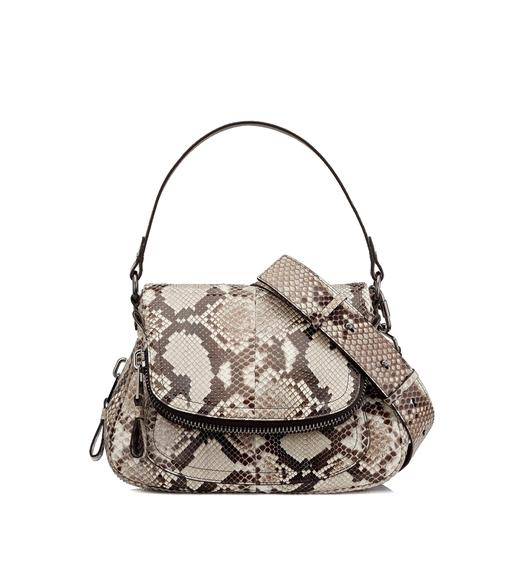 MEDIUM DOUBLE STRAP PYTHON JENNIFER