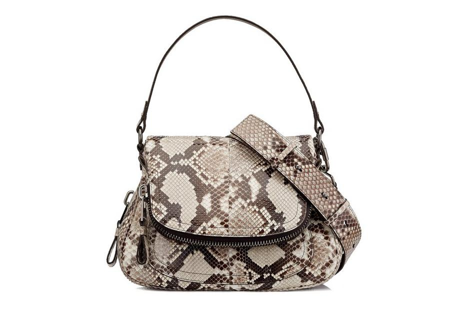 MEDIUM DOUBLE STRAP PYTHON JENNIFER A fullsize