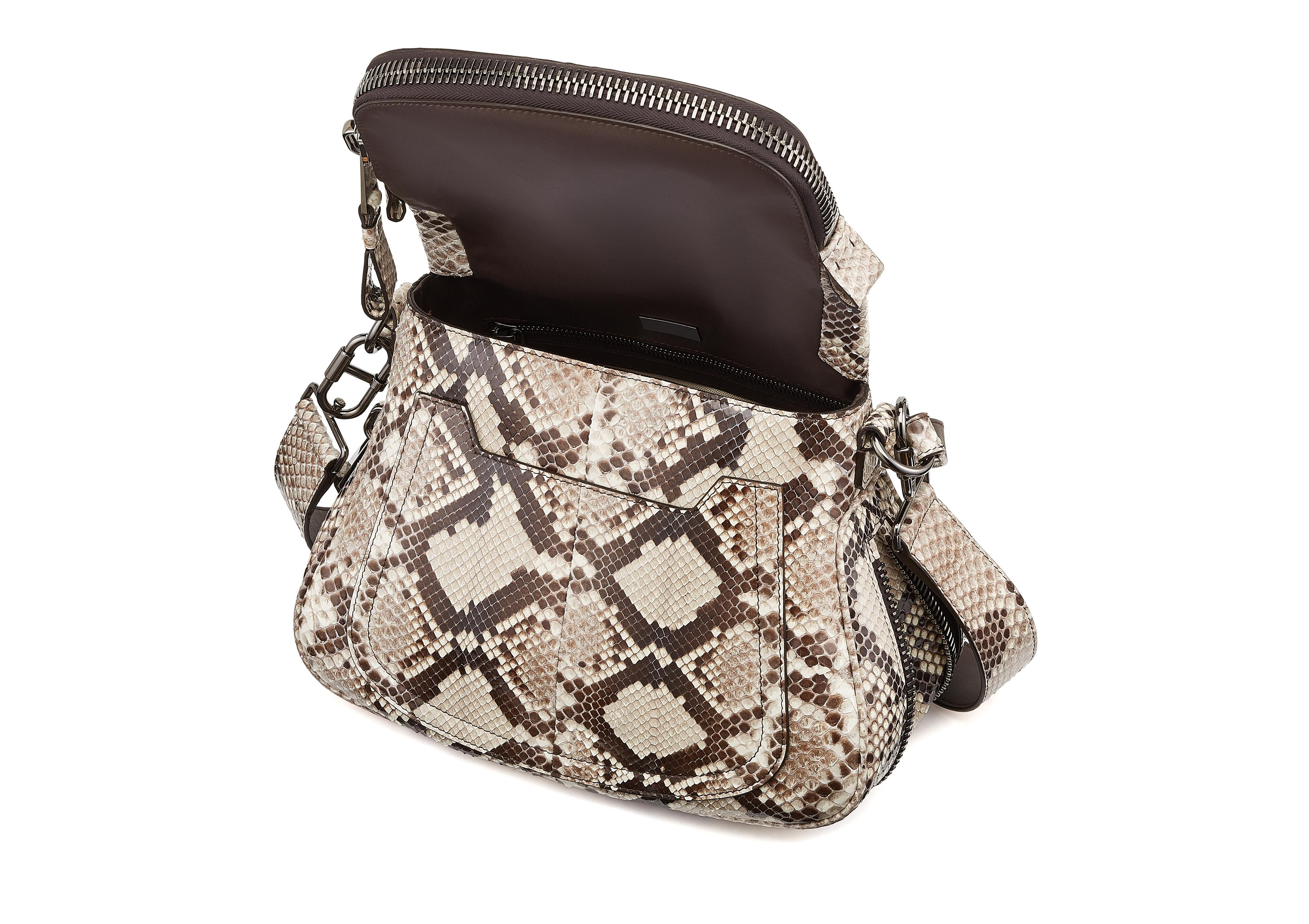 MEDIUM DOUBLE STRAP PYTHON JENNIFER D thumbnail
