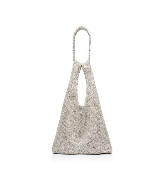 CRYSTAL EMBROIDERED CITY MARKET TOTE