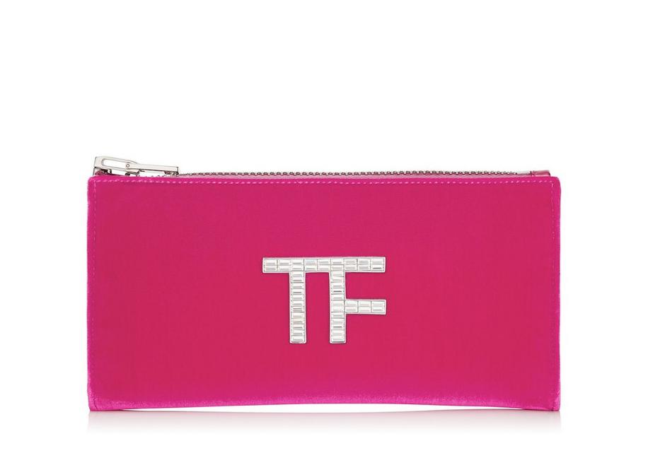 VELVET CRYSTAL TF ZIPPED CLUTCH A fullsize
