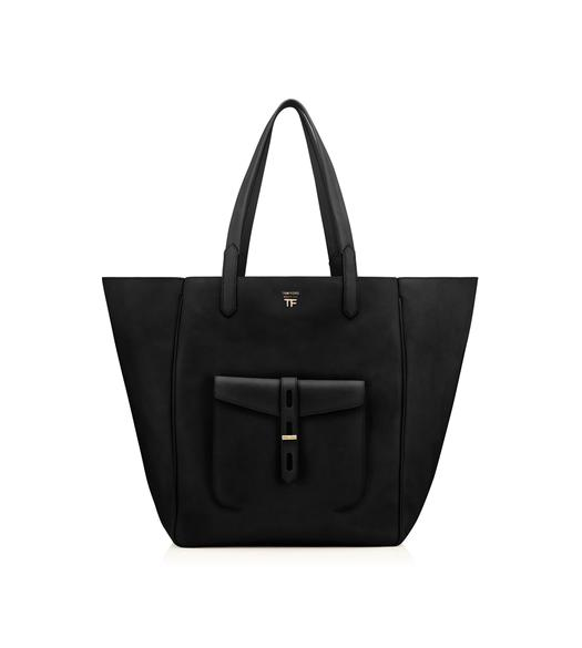HOLLYWOOD LEATHER T TWIST TOTE