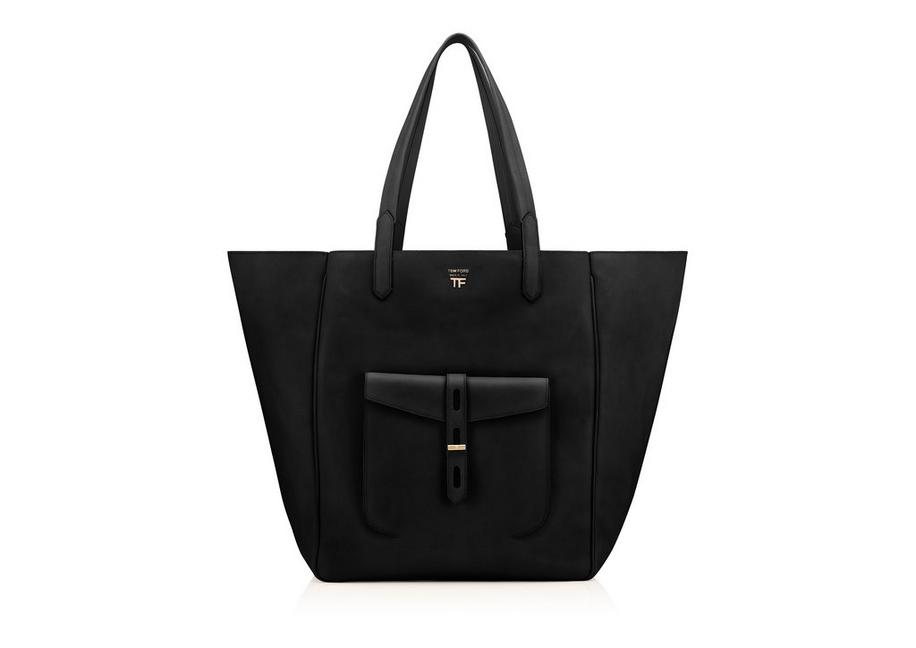 HOLLYWOOD LEATHER T TWIST TOTE A fullsize