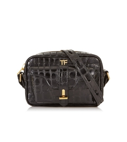 3005269303 EMBOSSED LEATHER CAMERA BAG