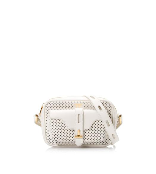 PERFORATED LEATHER T TWIST CAMERA BAG