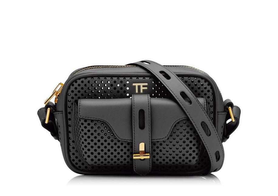 PERFORATED LEATHER T TWIST CAMERA BAG A fullsize