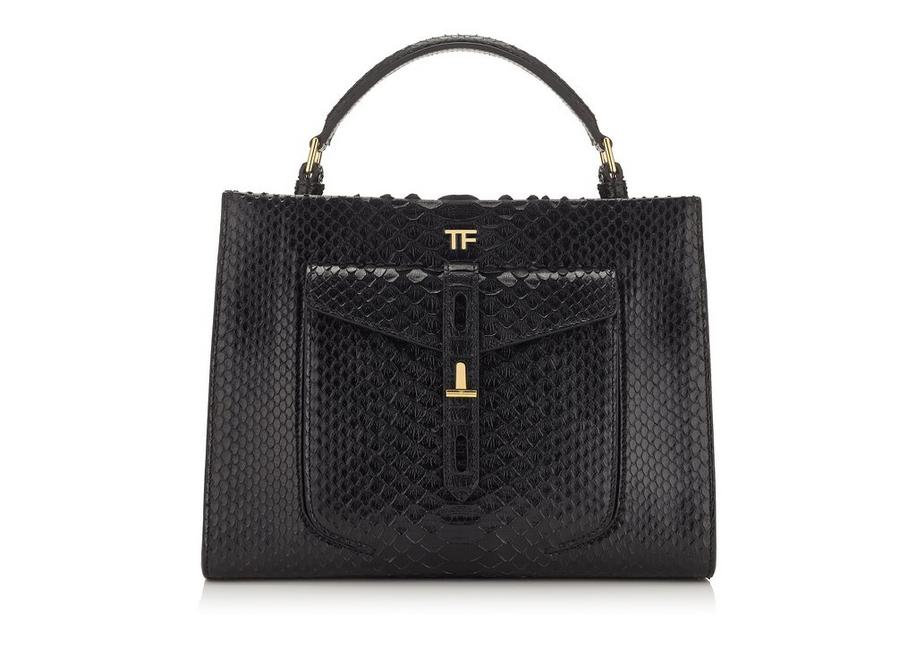 PYTHON T TWIST SMALL TOP HANDLE BAG A fullsize