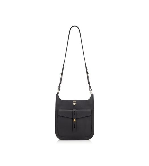 GRAIN LEATHER T TWIST CROSSBODY BAG