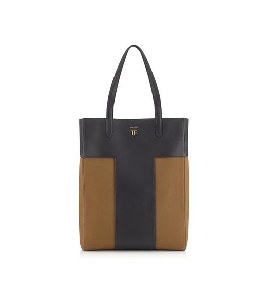 c88829179128 CANVAS NORTH/SOUTH GRAPHIC T TOTE