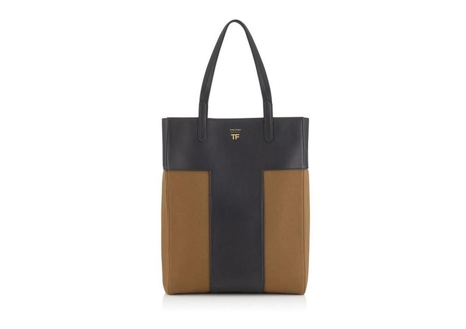 CANVAS NORTH/SOUTH GRAPHIC T TOTE A fullsize