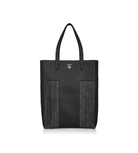DENIM NORTH/SOUTH GRAPHIC T TOTE