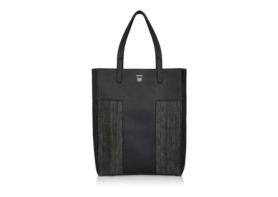 DENIM NORTH/SOUTH GRAPHIC T TOTE A fullsize