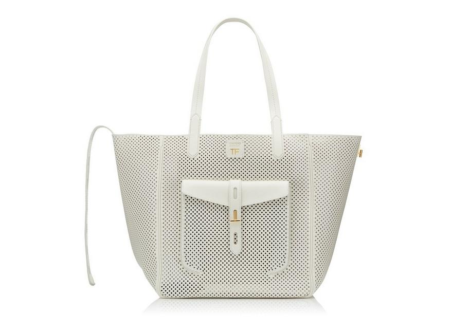 PERFORATED LEATHER MEDIUM T TWIST TOTE A fullsize