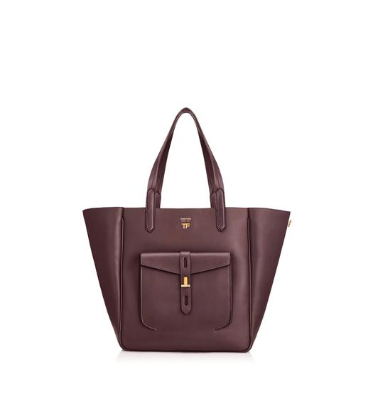 HOLLYWOOD LEATHER MEDIUM T TWIST TOTE