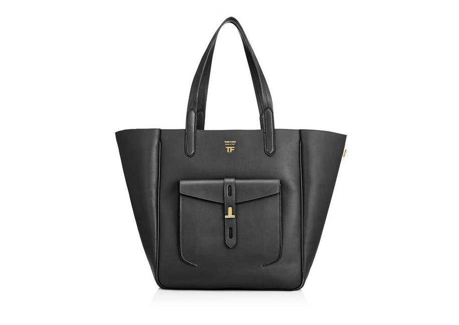 HOLLYWOOD LEATHER MEDIUM T TWIST TOTE A fullsize