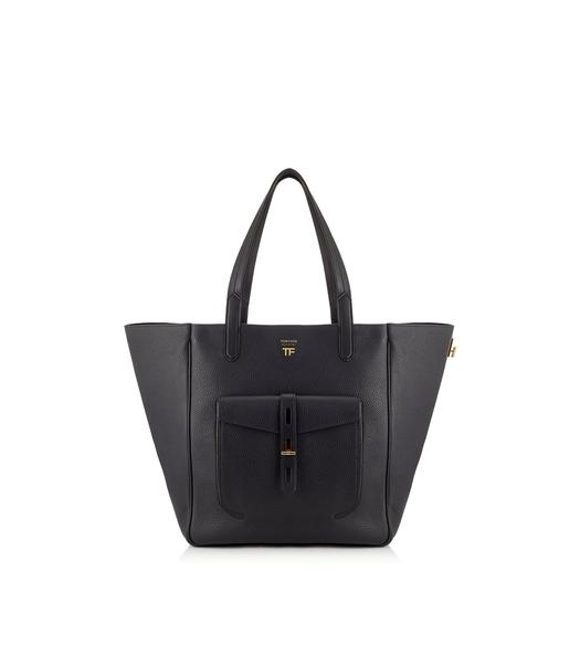 GRAIN LEATHER MEDIUM T TWIST TOTE