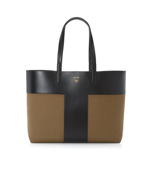 CANVAS EAST/WEST GRAPHIC T TOTE