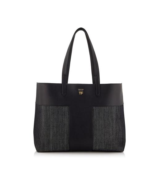 DENIM EAST/WEST GRAPHIC T TOTE