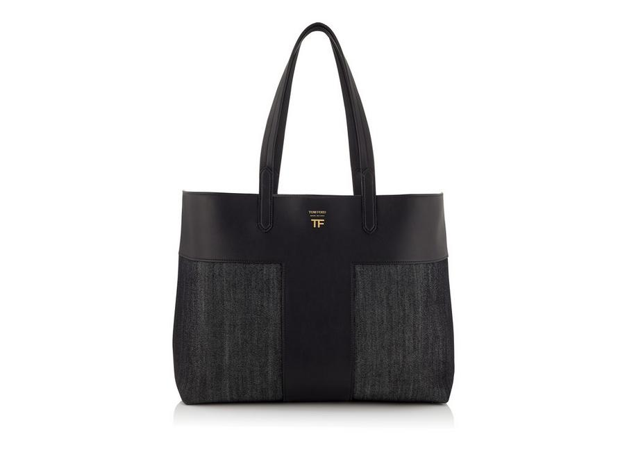 DENIM EAST/WEST GRAPHIC T TOTE A fullsize